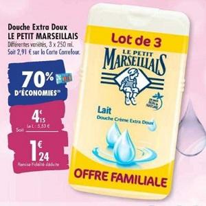 Gel Douche Le Petit Marseillais chez Carrefour (10/03 – 23/03)