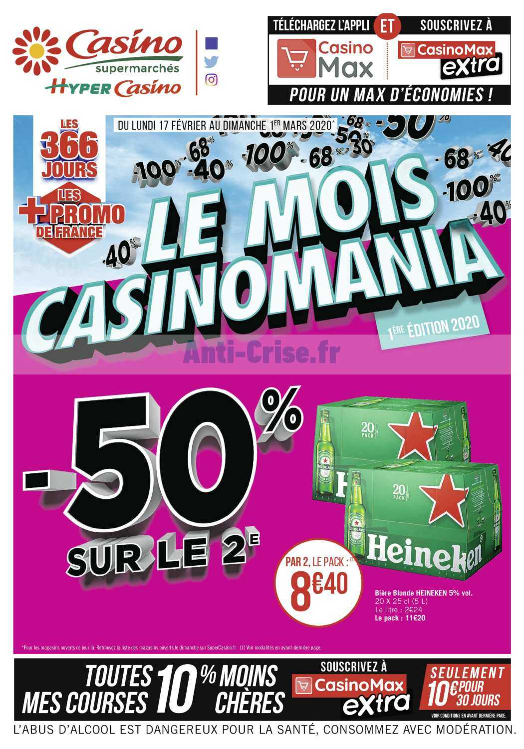 Catalogue Casino du 17 février au 01 mars 2020