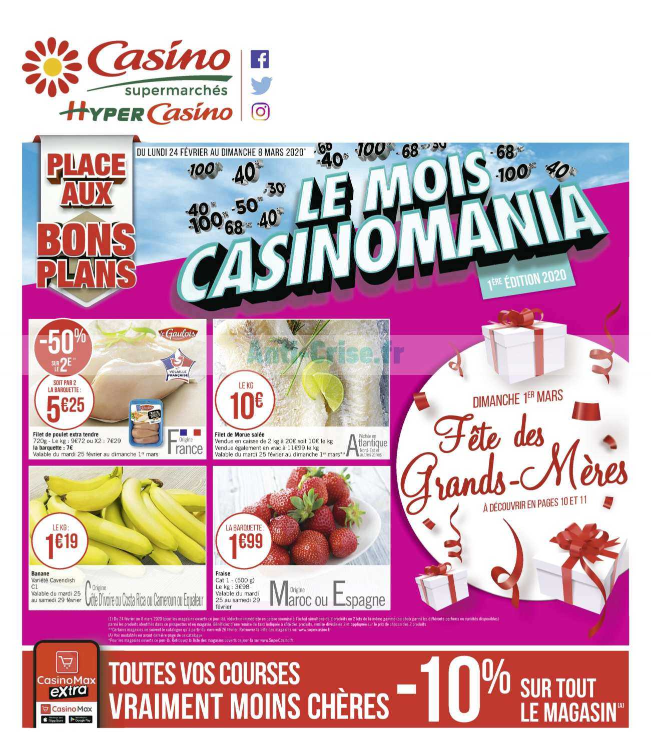 Catalogue Casino du 24 février au 08 mars 2020