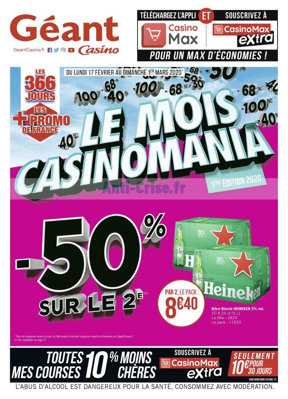 Catalogue Géant Casino du 17 février au 01 mars 2020