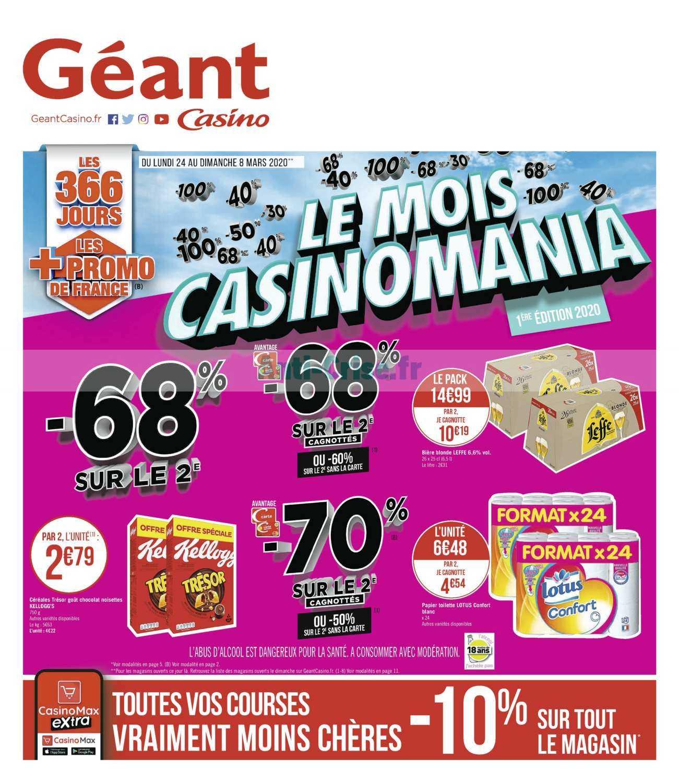 Catalogue Géant Casino du 24 février au 08 mars 2020