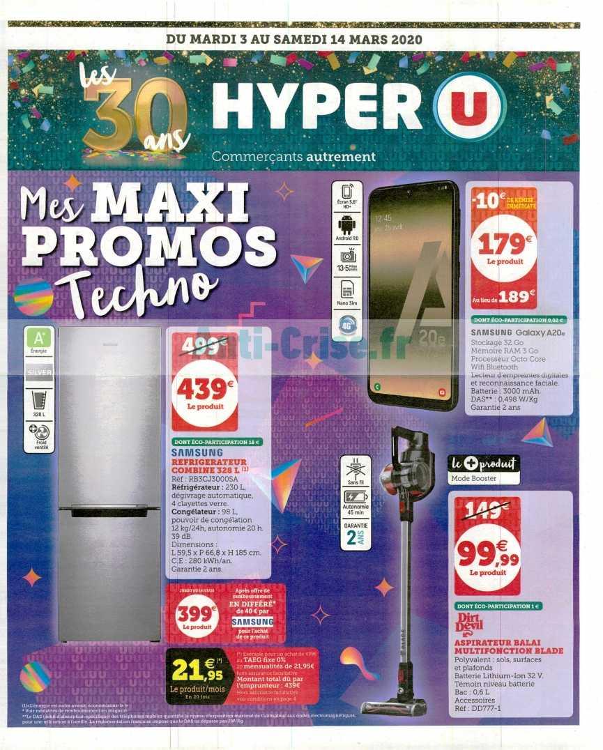 Catalogue Hyper U Du 03 Au 14 Mars 2020 High Tech Catalogues Promos Bons Plans Economisez Anti Crise Fr