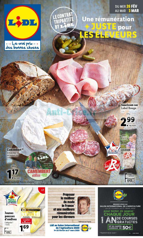 Catalogue Lidl du 26 février au 03 mars 2020