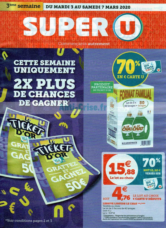 Catalogue Super U du 03 au 07 mars 2020