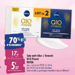 Soin Anti-Rides Q10 Nivea chez Carrefour (10/03 – 23/03)