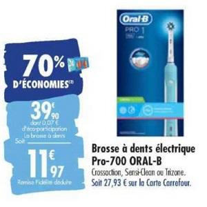 Brosse à Dents Electrique Pro-700 Oral-B chez Carrefour (10/03 – 23/03)