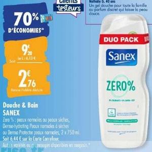 Gel Douche Sanex chez Carrefour (10/03 – 23/03)
