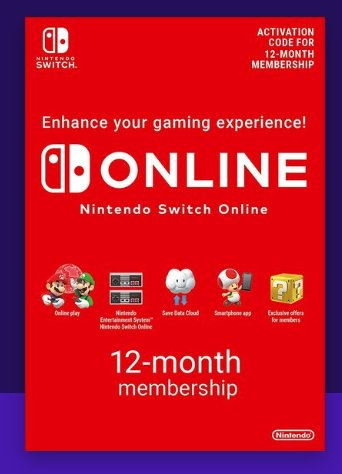 12.99€ l'abonnement annuel Nintendo Switch Online