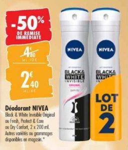 Déodorant Nivea chez Carrefour (10/03 – 23/03)
