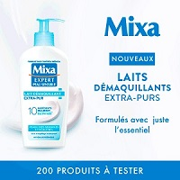 Test de Produit Beauté Test : Lait Démaquillant Extra-Pur de Mixa