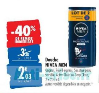 Gel Douche Nivea Men chez Carrefour (10/03 – 23/03)