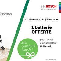 Bon Plan Bosch : 1 Aspirateur sans Fil Unlimited = 1 Batterie Offerte