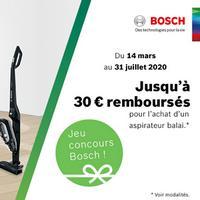 Offre de Remboursement Bosch : Jusqu'à 30€ Remboursés sur Aspirateur Balai