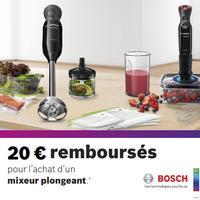 Offre de Remboursement Bosch : 20€ Remboursés sur Mixeur Plongeant
