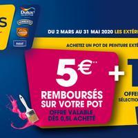 Offre de Remboursement Dulux Valentine : 5€ Remboursés sur Peinture Extérieure