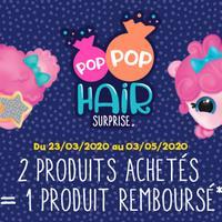 Offre de Remboursement Giochi Preziosi : 2ème Produit Pop Pop Hair 100% Remboursé