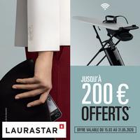 Offre de Remboursement Laurastar : Jusqu'à 200€ Remboursés sur Centre de Repassage Smart