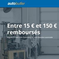 Offre de Remboursement AutoButler : Jusqu'à 150€ Remboursés sur Réparations
