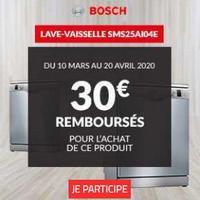Offre de Remboursement Bosch : 30€ Remboursés sur Lave-Vaisselle chez BUT