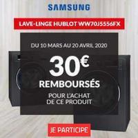 Offre de Remboursement Samsung : 30€ Remboursés sur Lave-Linge chez BUT