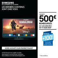 Offre de Remboursement Samsung : Jusqu'à 600€ Remboursés sur TV QLED
