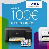 Offre de Remboursement Epson : Jusqu'à 100€ Remboursés sur une Imprimante EcoTank