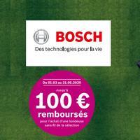 Offre de Remboursement Bosch : 100€ Remboursés sur Installation Tondeuse Sans Fil