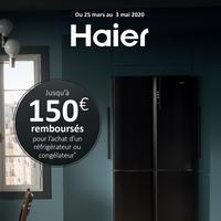 Offre de Remboursement Haier : Jusqu'à 150€ Remboursés sur Réfrigérateur ou Congélateur