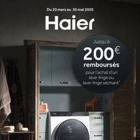 Offre de Remboursement Haier : Jusqu'à 200€ Remboursés sur Lave-Linge