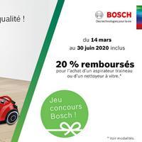 Offre de Remboursement Bosch : 20% Remboursés sur Aspirateur Traineau ou Nettoyeur à Vitre