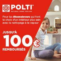 Offre de Remboursement Polti : Jusqu'à 100€ Remboursés sur Nettoyeur Vapeur