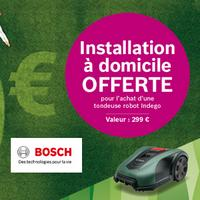 Bon Plan Bosch : 1 Tondeuse Indego Achetée = Installation Offerte
