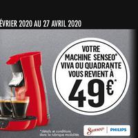 Offre de Remboursement Philips : Votre Machine Senseo Viva ou Quadrante à 49€