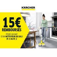 Offre de Remboursement Kärcher : 15€ Remboursés sur Nettoyeur de Sols
