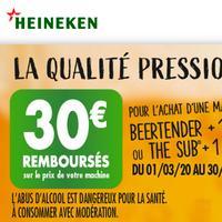 Offre de Remboursement Seb / Krups : 30€ Remboursés sur Beertender + 1 Fût ou The Sub + 1 Torp