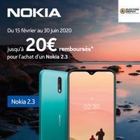 Offre de Remboursement Nokia : Jusqu'à 20€ Remboursés sur Smartphone 2.3