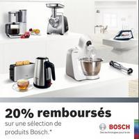 Offre de Remboursement Bosch : 20% Remboursés sur une Sélection de Produits