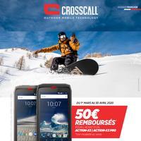 Offre de Remboursement Crosscall : 50€ Remboursés sur Smartphone ACTION-X3 ou Pro
