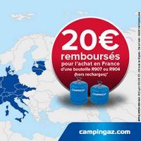 Offre de Remboursement Campingaz : 20€ Remboursés sur Bouteille R904 ou R907