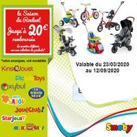 Offre de Remboursement Smoby : Jusqu'à 20€ Remboursés sur 1 Produit Roulant