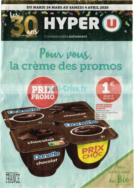Catalogue Hyper U Du 24 Mars Au 04 Avril 2020 Catalogues Promos Bons Plans Economisez Anti Crise Fr