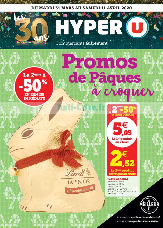 Catalogue Hyper U Du 31 Mars Au 11 Avril 2020 Catalogues Promos Bons Plans Economisez Anti Crise Fr