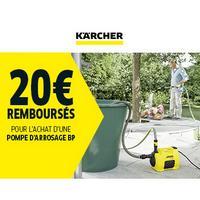 Offre de Remboursement Kärcher : 20€ Remboursés sur Pompe d'arrosage