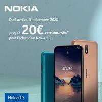 Offre de Remboursement Nokia : Jusqu'à 20€ Remboursés sur Smartphone 1.3