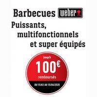 Offre de Remboursement Weber : Jusqu'à 100€ Remboursé sur Barbecue