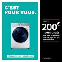 Offre de Remboursement Samsung : Jusqu'à 200€ Remboursés sur Lave-linge