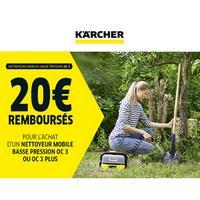 Offre de Remboursement Kärcher : 20€ Remboursés sur Nettoyeur mobile basse pression OC 3