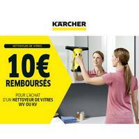 Offre de Remboursement Kärcher : 10€ Remboursés sur Nettoyeur de vitres WV ou KV