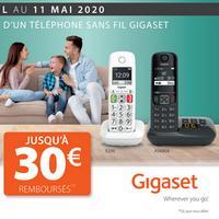 Offre de Remboursement Gigaset : Jusqu'à 30€ Remboursés sur Téléphone sans fil
