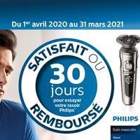 Offre d'Essai Philips : Rasoir Satisfait ou 100% Remboursé